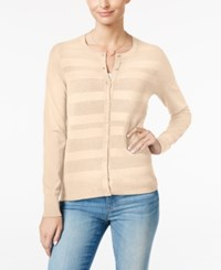 Charter Club Striped Cardigan Only At Macy's Heather Brioche