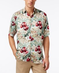 Tasso Elba Men's Classic Fit Holiday Lights Shirt Only At Macy's White Combo