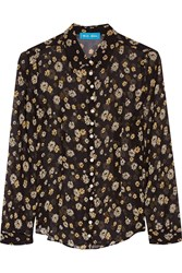 Mih Jeans Printed Silk Georgette Shirt Black