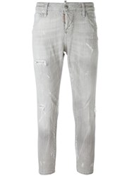 Dsquared2 'Cool Girl Cropped' Jeans Grey