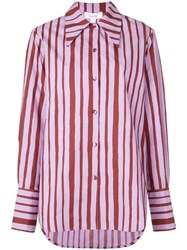 Beaufille Striped Shirt Purple