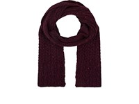 Inis Meain Men's Donegal Effect Wool Cashmere Scarf Dark Purple Red
