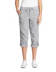 Lord And Taylor Linen Roll Up Pants Grey