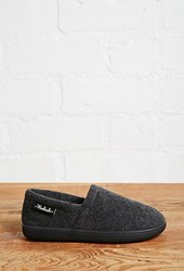 Forever 21 Woolrich Felt Slippers Charcoal