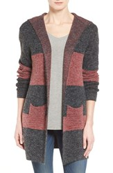 Women's Coin 1804 Colorblock Hooded Cardigan