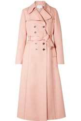 Giambattista Valli Woven Trench Coat Pastel Pink