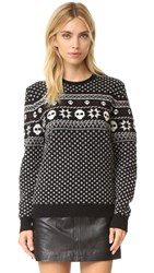 The Kooples Your Boyfriends Fair Isle Pullover Black