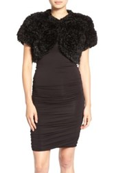 Jocelyn Fur 'Bleach' Genuine Rabbit Shrug Black