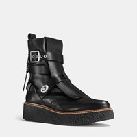 Coach Whipstitch High Top Creeper Black