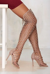 Nasty Gal Schutz Karlyanna Caged Knee High Heel