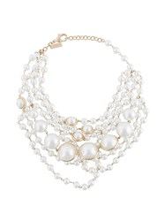 Ermanno Scervino Cascading Necklace White