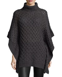 Michael Michael Kors Turtleneck Textured Poncho Sweater