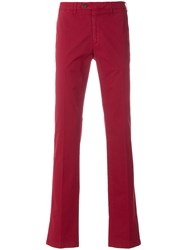 Canali Chino Trousers Red