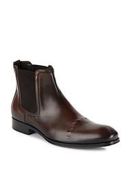 Jo Ghost Solid Leather Chelsea Boots Brown