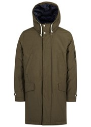 Paul Smith Olive Hooded Cotton Shell Parka