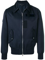 Alexander Mcqueen Zipped Jacket Blue