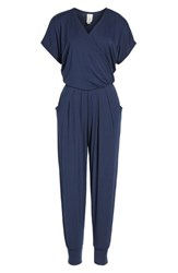 Loveappella Women's Short Sleeve Wrap Top Jumpsuit
