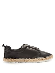 Pierre Hardy Slider Leather Espadrilles Black