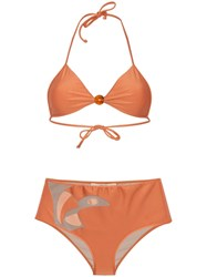 Adriana Degreas Cut Out Boxer Bikini Orange