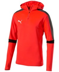 Puma Men's Evotrg Drycell Quarter Zip Hoodie Red