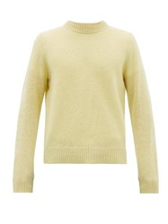 Acne Studios Crew Neck Wool Sweater Light Yellow
