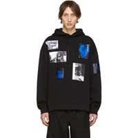 Raf Simons Black Patch Pictures Hoodie