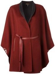 Loro Piana Double Face Belted Coat Red