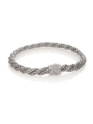 John Hardy Classic Chain Diamond And Sterling Silver Extra Small Twisted Bracelet