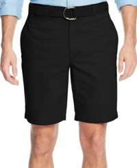 Club Room Men's Flat Front Shorts Only At Macy's Deep Black