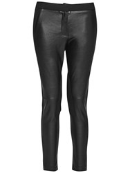 French Connection Street Faux Leather Trousers Black