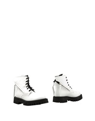 Bruno Bordese Ankle Boots White
