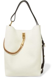 Givenchy Gv Bucket Textured Leather And Suede Shoulder Bag White