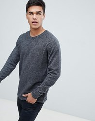 Selected Homme Knitted Jumper In Ribbed 100 Organic Cotton Deep Depths Green