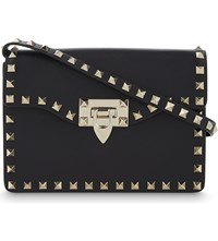 Valentino Rockstud Mini Leather Satchel Black
