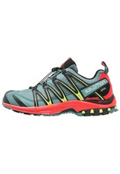 Salomon Xa Pro 3D Gtx Trail Running Shoes North Atlantic Fiery Red Black Grey