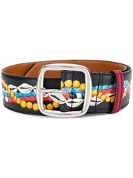 Etro Painted Buckle Belt Black