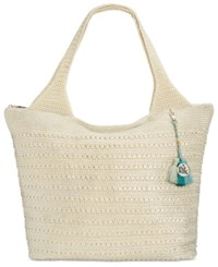 The Sak Palm Springs Crochet Tote A Macy's Exclusive Style Natural Metallic