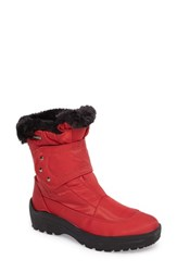 Pajar Women's Shoes 'Moscou' Snow Boot Red Fabric