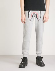 A Bathing Ape Shark Motif Cotton Jogging Bottoms Grey