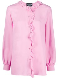 Boutique Moschino Ruffle Trim Blouse Pink