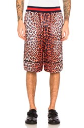 3.1 Phillip Lim Reversible Leopard Shorts In Animal Print Orange Black Animal Print Orange Black