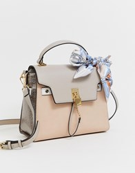 Aldo Structured Top Handle Tote Bag With Cross Body Strap Beige