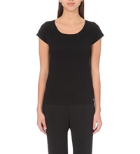 Calvin Klein Cotton Blend Pyjama Top 001 Black