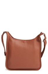 Ed Ellen Degeneres Leather Crossbody Bag Brown Dark Umber