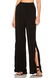 Raquel Allegra Split Bell Bottom Black