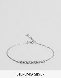 Asos Sterling Silver Curb Chain Bracelet Silver