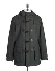 Brooks Brothers Wool Blend Toggle Coat Grey