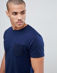 Bellfield T Shirt With Cord Pocket In Navy