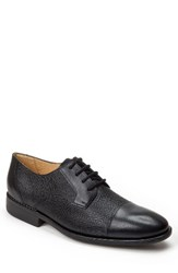 Sandro Moscoloni Men's Ronny Embossed Cap Toe Derby Black Leather