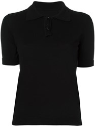 Maison Martin Margiela Knitted Polo Top Black